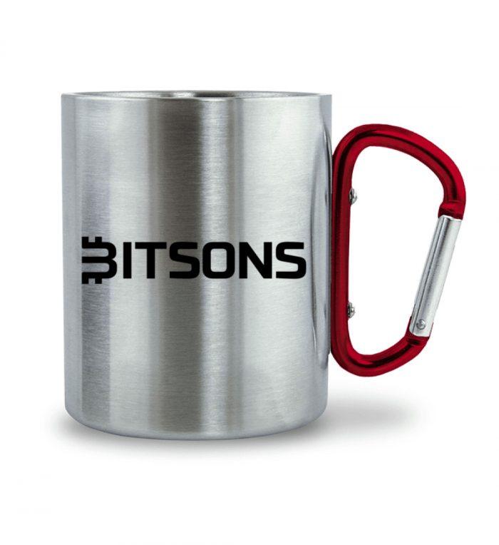 Bitsons Tasse Edelstahl - Edelstahltasse mit Karabinergriff-6989